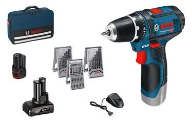 Bosch GSR 12V-15 Cordless Drill w/ 4.0Ah+2.0Ah