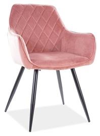 Ēdamistabas krēsls Signal Meble Modern Linea Velvet, rozā