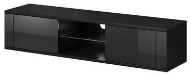 ТВ стол Vivaldi Meble Hit, черный, 1400x360x305 мм