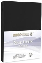 Palags DecoKing Nephrite, melna, 160x200 cm, ar gumiju