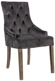 Ēdamistabas krēsls Home4you Holmes Velvet Dark Grey, 1 gab.