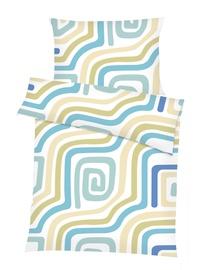 Gultas veļas komplekts Domoletti, zila/balta/zaļa, 140x200