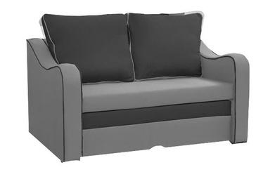 Диван-кровать Idzczak Meble Samba Grey/Black, 140 x 90 x 73 см
