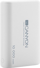Canyon Ultra-capacious Li-Polymer battery with 3-in-1 USB Cable 10,000 mAh White