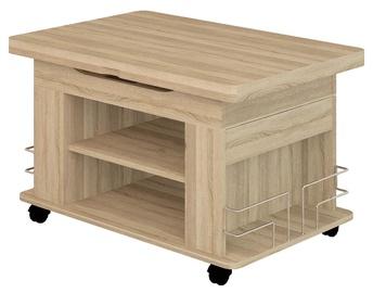 Журнальный столик DaVita Agat 23 Sonoma Oak, 900 - 1200x600x550 - 770 мм