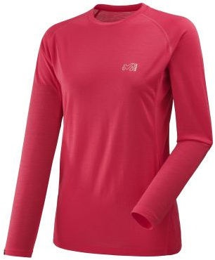 Millet Womens Thermal Shirt LD C Wool Blend 150 LS Red S