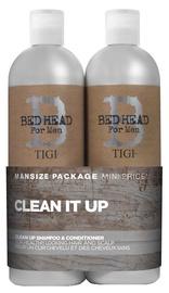Шампунь + Кондиционер для волос Tigi Bed Head For Men Clean It Up, 2x750 мл