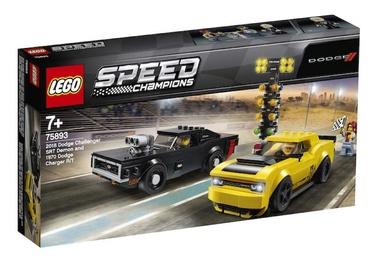 Конструктор LEGO Speed Champions 2018 Dodge Challenger SRT Demon And 1970 Dodge Charger R/T 75893 75893, 478 шт.