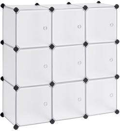 Skapis Songmics 9-Cube Plastic Storage Organizer 93x31x123cm White
