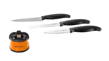 Delimano Brava Extreme Knife Sharpener plus Knife Set 3pcs