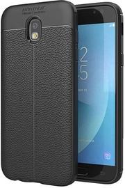 Hurtel Litchi Pattern Back Case For Samsung Galaxy J3 J330 Black