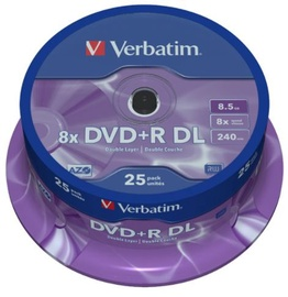 Verbatim DVD+R DL 8.5GB 8x 25pcs