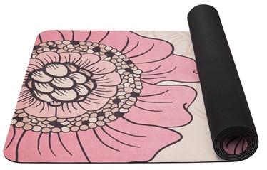 Коврик для фитнеса и йоги Yate F, розовый/кремовый, 185 см x 68 см x 4 мм
