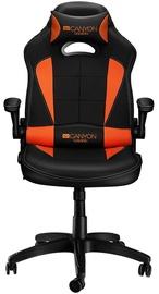 Spēļu krēsls Canyon CND-SGCH2 Vigil, melna/oranža
