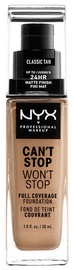 Tonizējošais krēms NYX Can't Stop Won't Stop CSWSF12 Classic Tan, 30 ml