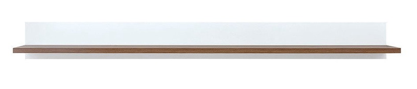 Black Red White Heda Wall Shelf White/Sibiu Larch