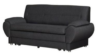 Диван-кровать Bodzio Livonia 3 Fabric Dark Gray, 184 x 76 x 89 см