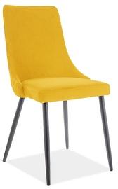 Ēdamistabas krēsls Signal Meble Piano B Matt Velvet 48, dzeltena
