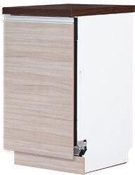 Нижний кухонный шкаф Bodzio Sandi KSZZ45W-LA, серый, 450x590x860 мм