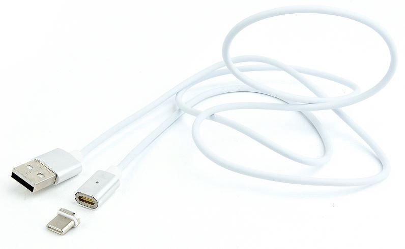 Gembird Magnetic Cable USB / USB-C Silver