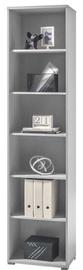 Black Red White Office Shelf Lux REG/53/220 Grey 221x35cm