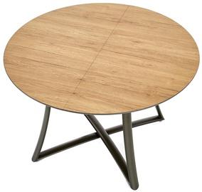 Pusdienu galds Halmar Moretti, melna/ozola, 1180x760x1180mm