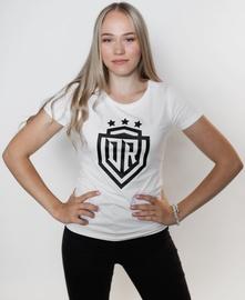 T-krekls Dinamo Rīga Women T-Shirt White/Black XS