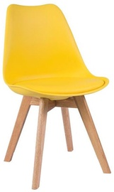 Ēdamistabas krēsls Signal Meble Kris Oak Yellow, 1 gab.