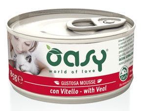 Oasy Adult Cat Wet Mousse w/ Veal 85g