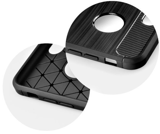 TakeMe Carbon Effect Back Case For Apple iPhone XS Max Black
