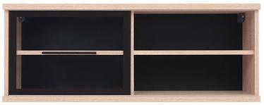 Black Red White Fever Glass-Door Vertical Cabinet