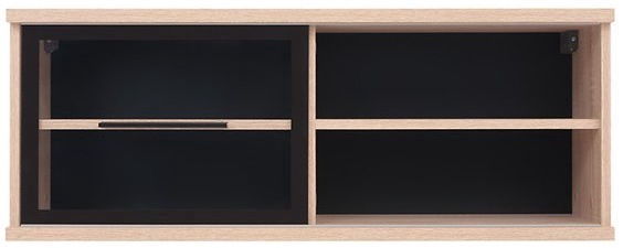 Black Red White Fever Glass-Door Vertical Cabinet