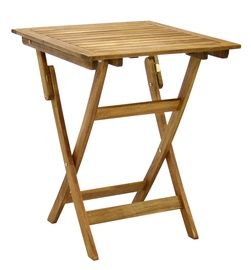 Dārza galds Home4you Finlay Acacia, 60 x 60 x 72 cm