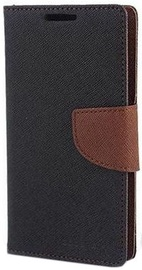 Mercury Fancy Diary Book Case For Samsung Galaxy Ace 4 Black/Brown