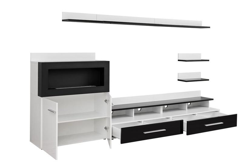 Dzīvojamās istabas mēbeļu komplekts ASM Camino White/Black