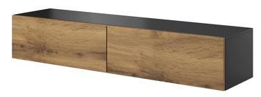 ТВ стол Halmar Livo RTV 160W, коричневый/черный, 1600x400x300 мм