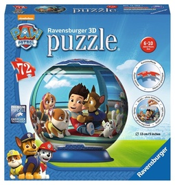 3D puzle Ravensburger Ball Psi Patrol 12186, 72 gab.
