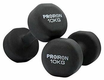 ProIron Neoprene Dumbbell Set Black 2x10kg