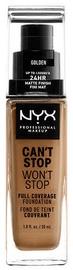 Tonizējošais krēms NYX Can't Stop Won't Stop CSWSF13 Golden, 30 ml