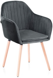 Homede Lacelle Chairs 2pcs Charcoal