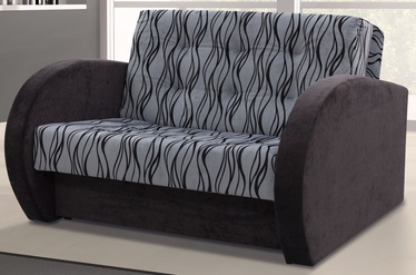 Dīvāngulta Idzczak Meble Sylwia IV M06176 Grey/Black, 133 x 110 x 90 cm