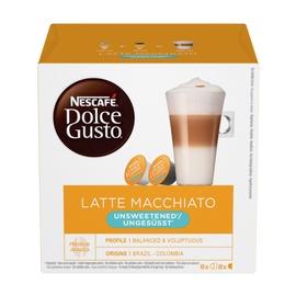 Kafijas kapsulas Nescafe Dolche Gusto Latte Macchiato Unsweet, 16 gab.