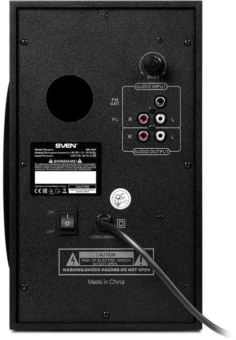 Bezvadu skaļrunis Sven MS-304, melna, 40 W