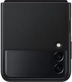 Чехол Samsung Leather Cover for Galaxy Z Flip 3, черный