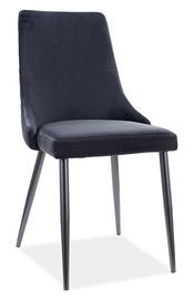 Ēdamistabas krēsls Signal Meble Modern Piano B Velvet, melna