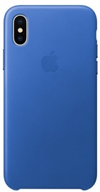 Apple Leather Back Case For Apple iPhone X Electric Blue