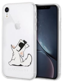 Karl Lagerfeld Cat Back Case For Apple iPhone XR Transparent