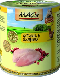 Mac's Poultry & Cranberry 800g