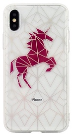 Beline Pattern Back Case For Apple iPhone X/XS Transparent Unicorn
