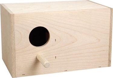 Flamingo Wooden Nest Box For Lovebirds 100046 Beige